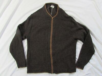 Vtg 60s Puritan Aquaknit Wool Sweater Sz 44 Talon Zipper Hollywood Mod Nice!