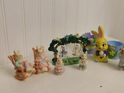 Miniture Assorted Easter Bunny figurines