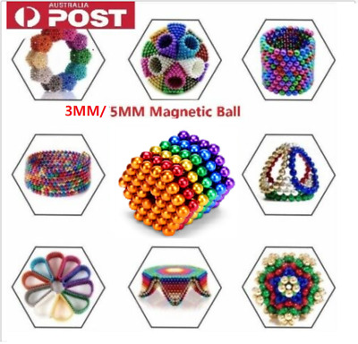3mm/5mm Magnetic Building Blocks Toy Set 3D Magic Beads Puzzle Sphere Toys