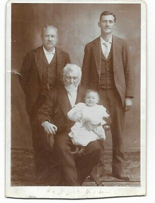Cabinet Card photograph of 4 generations of the Wilford Woodruff family-Mormon