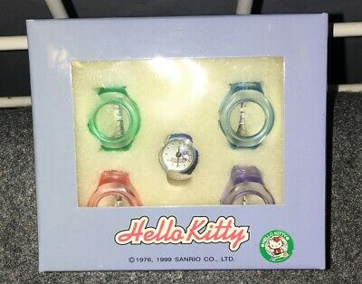 Vintage Hello Kitty promotional 1999 interchangeable ring watch NIB