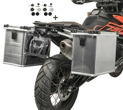 Alu Side cases 34l-45l with kit 16mm for BMW R 1200 GS / Adventure