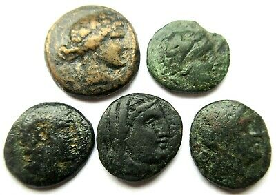 A lot of 5 x greek Ae-coins