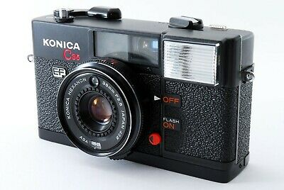 Konica C35 EF 35mm Film Camera Hexanon 38mm f/2.8 from Japan [For Parts] #004