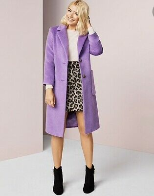 Holly Willoughby SELL OUT Marks And Spencers Ladies Long Purple Coat SIZE 12