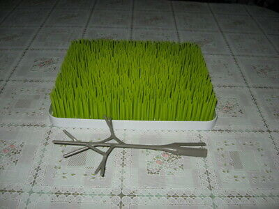 Boon Grass Lawn Drying Rack  With Tree Accessory Grey Color