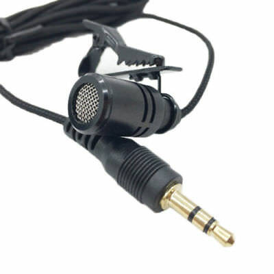 ALS_ Clip-on Lapel Mini Lavalier Mic Microphone 3.5mm For Phone PC Recording Fas