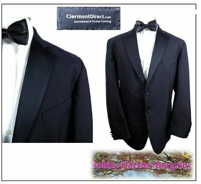 "Clermont Formal  Mens Black Tuxedo Dinner suit Ch44""R W36"" L31"" Prom Ball Cruise"