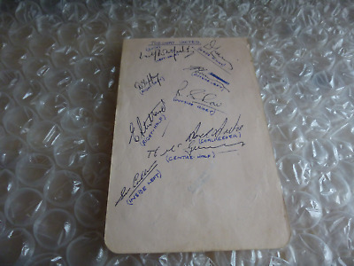 Signed Torquay United & Bristol City circa early 1950's