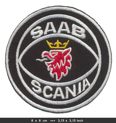 SAAB SCANIA Aufnäher Patches Automobile LKW Trucks Schweden