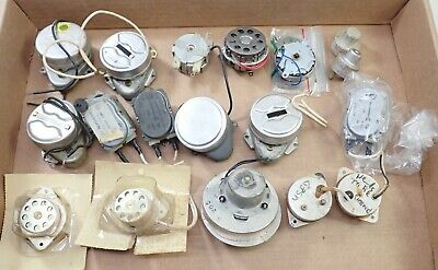 Lot Of Vintage Electric Wall Mantel Clock Movements Motors Parts Repair