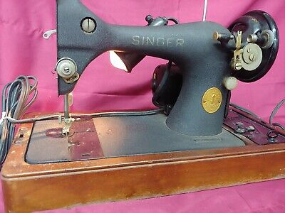 Singer 128 Vintage 1948 Sewing Machine BZ9-8 w/ Brentwood Case Tested Working