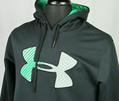 Men's Under Armour STORM 100% Polyester Black Pull Over Hoodie Sweatshirt Medium