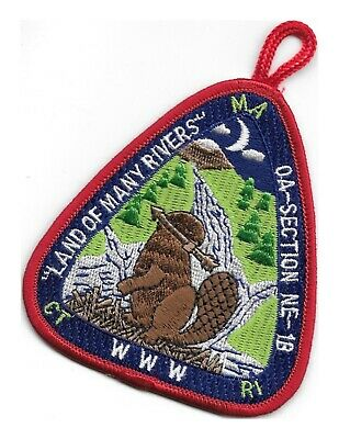 Order Of The Arrow Oa -  Section Ne - 1B Land Of Many Rivers  Red Border