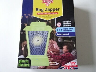 Zero In  Insect Killer Glow In The Dark Battery Operated Led Bug Zapper Controls