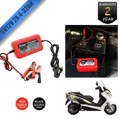 Car Smart Battery Charger Automatic Intelligent 12V 6V Cars Bike Vans 2A AMP UK