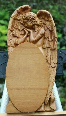 3d carved Wood Guardian Angel , Wall  home  3d decor