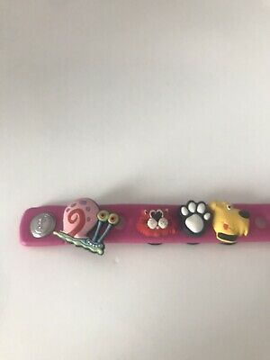 Jibbitz Shoe 7 Charms Wristband Crocs SPONGEBOB Mermaid Dog Cat Paw