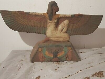 Rare Antique Ancient Egyptian Statue Goddess Isis Good Health Scarab 1650-1580BC
