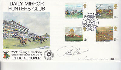 Willie Carson Signed Epsom Derby Horseracing Benham Cover