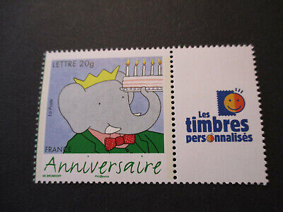 ***Timbre De France***  Personnalise ' Babar '  N° 3927A  Neuf**