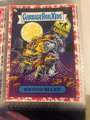 2020 Garbage Pail Kids Late To School #3B Bus Stop Becky Bloody Red #15/75