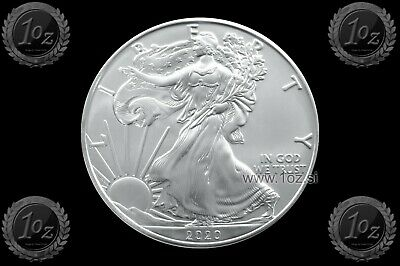 UNITED STATES 1 DOLLAR 2020 ( SILVER EAGLE ) 1oz SILVER Coin (Ag 999) UNC * NEW