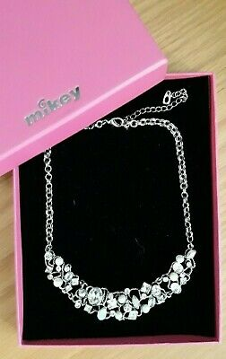 Mikey Wedding - Pretty Silver, Crystal & Pearl Necklace - NEW