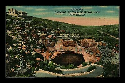 Dr Jim Stamps Us Carlsbad Caverns National Park New Mexico Linen Postcard