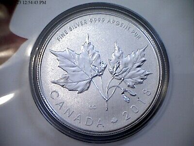2018 'Maple Leaves' Specimen $10 Silver Coin 1/2oz .9999 Fine