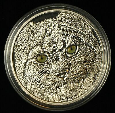 2017 Eyes Great LYNX $15 Pure Silver Proof Coin Canada Glow-In-Dark