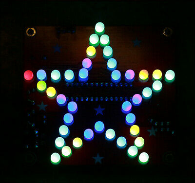 Five-Pointed Star LED Music Colorful Flashing Light DIY Kit Soldering Study