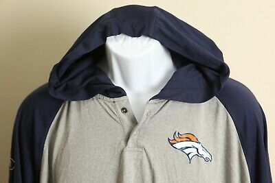 Under Armour Men's gray and navy Combine hooded Denver Broncos Jacket 2XL shirt