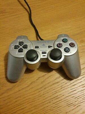 Official Sony Playstation 2 Dual Shock Controller Silver Ps2