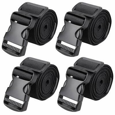 """MAGARROW 65"""" × 1.5"""" Utility Straps with Buckle Adjustable, 4-Pack (Black (4-PCS"""