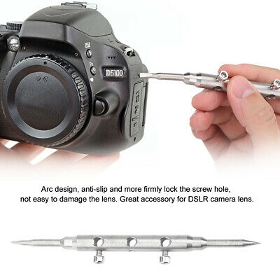 Silver DSLR Camera Lens Spanner Wrench Repair Open Tool Ring Remover 10-110mm