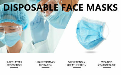 600pc AMMEX Earloop 3-Ply Disposable Face Mask, Blue, BFE 99%, Medical, Surgical