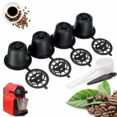 5pc Refillable Reusable Coffee Filter Capsule Pods For Nespresso Maker Machine