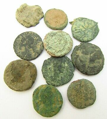 Lot of Byzantine & Roman Bronze Coins for Research c. 100 - 500 AD (289)
