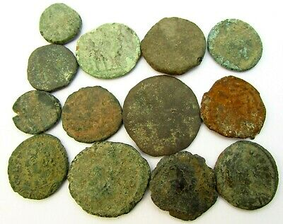 Lot of Byzantine & Roman Bronze Coins for Research c. 100 - 500 AD (290)