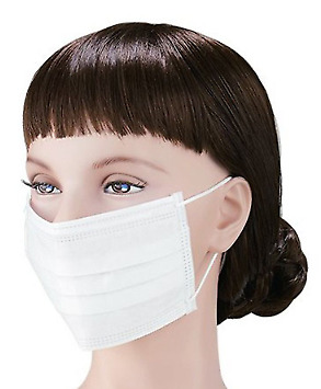 50PCS Disposable Surgical Face Mask Anti-Dust Anti-smog Ear Loop Mouth  Mask Set