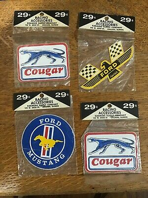 FORD Original Vintage 1970s Racing Decal/Stickers MIP Mustang Cougar Thunderbird