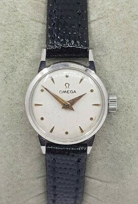 Omega Geneve Ladies Cocktail Stainless Steel Swiss Watch Cal 244 Ref 11043-1