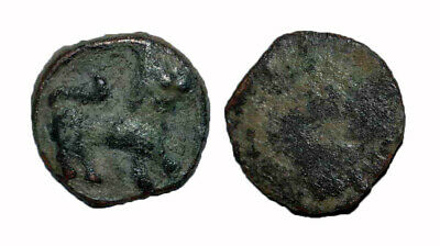 (15084) Chach AE coin, Unknown ruler 7-8 Ct AD, Lion.