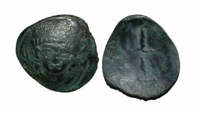 (15087) Bukhara Soghd AE coin, Unknown ruler.