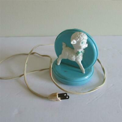 Vintage 1960s 1970s Child's Lamb Baby Sheep Stand Electric Night Light