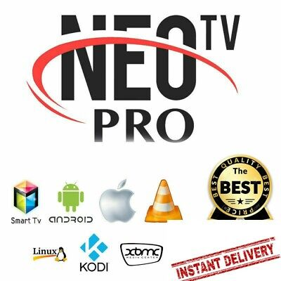 NEO PRO 2 OFFICIEL CODE 12 MOIS (smart tv, box android, m3u) envoi 10 min