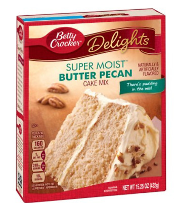 Betty Crocker Super Moist Butter Pecan Cake Mix Baking Kitchen Cooking Delights