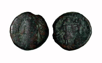 (15099) South Soghd AE coin, Kesh, the ruler kills a lion. -RRR