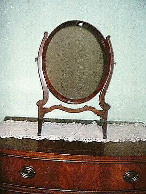 Elegant Edwardian Mahogany Swing Toilet Mirror for Dressing Table/ Chest of Draw
